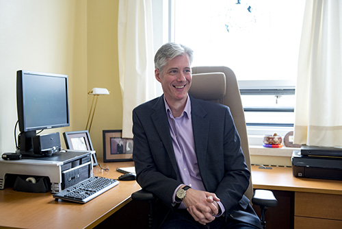 David Maginley at desk